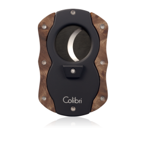 Colibri Cut Wood Cigar Cutter - Dark Burl
